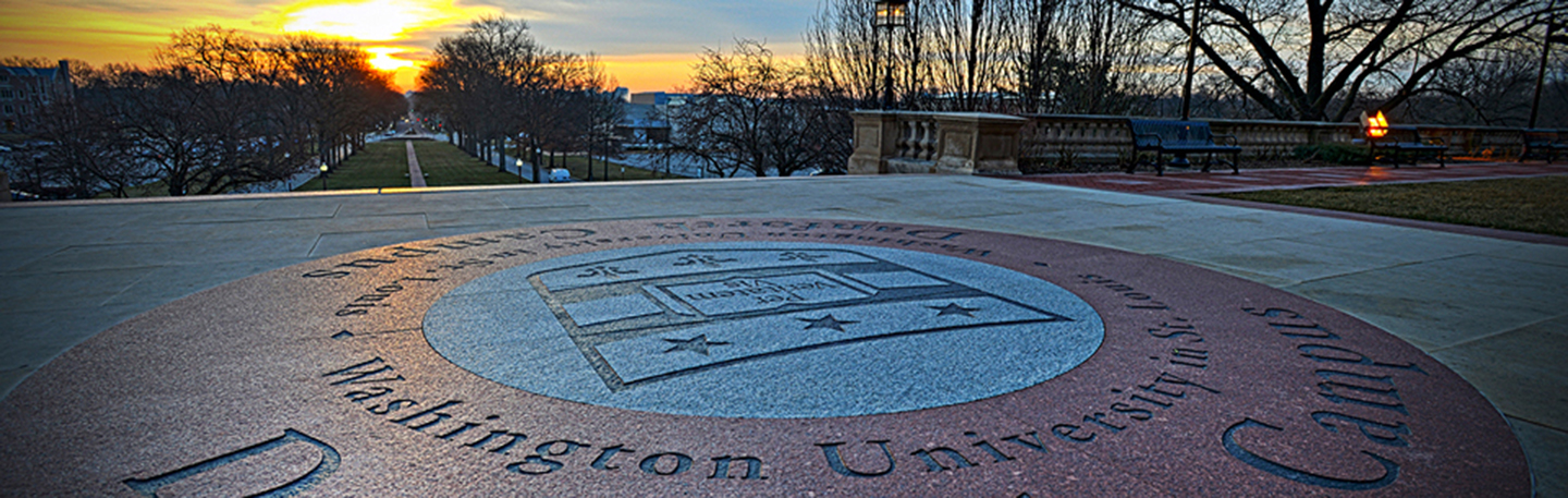 Photo of Sunrise Over Washington University Shield